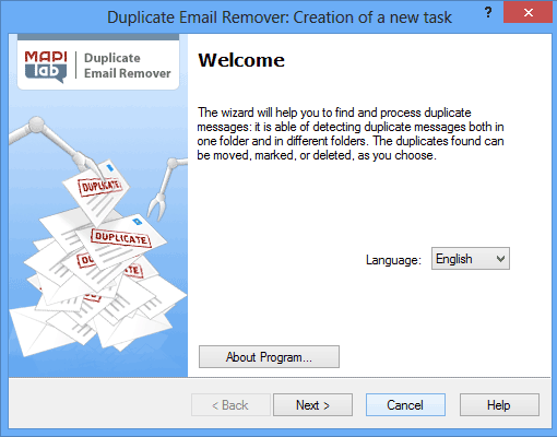 Outlook Duplicates Remover Wizard
