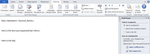 How to mail merge in Outlook