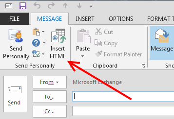 How To Insert Your Html Into An Email Message And Stop Outlook From