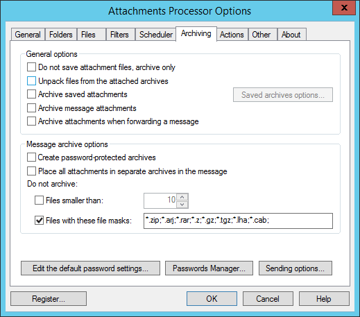 Blocking attachments in Outlook