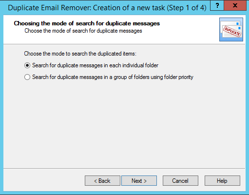 Define folder for Outlook 2013 duplicates