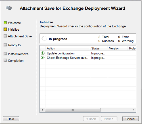 Save mail attachments on Exchange Server