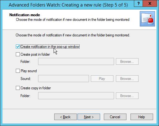 Outlook Advanced Folders Watch notifications