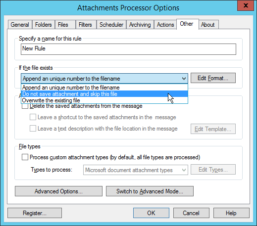 Attachments Processor for Outlook Get rid of duplicates
