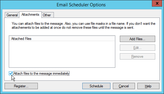 Outlook Email Scheduler options