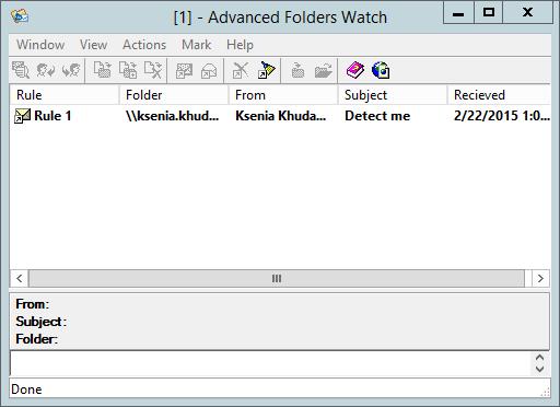 Notifications Window in Outlook