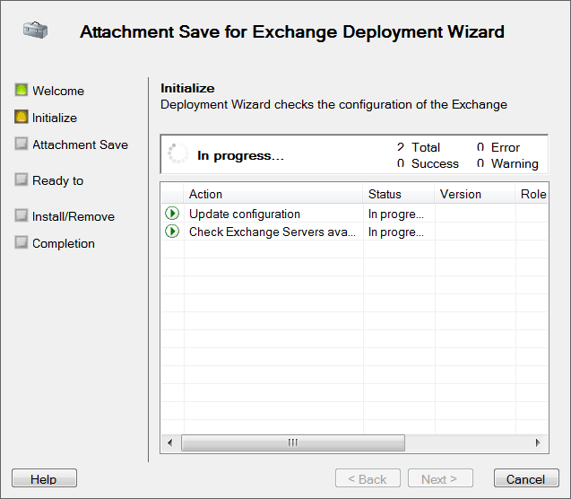 Attachment Save for Exchange installation wizard