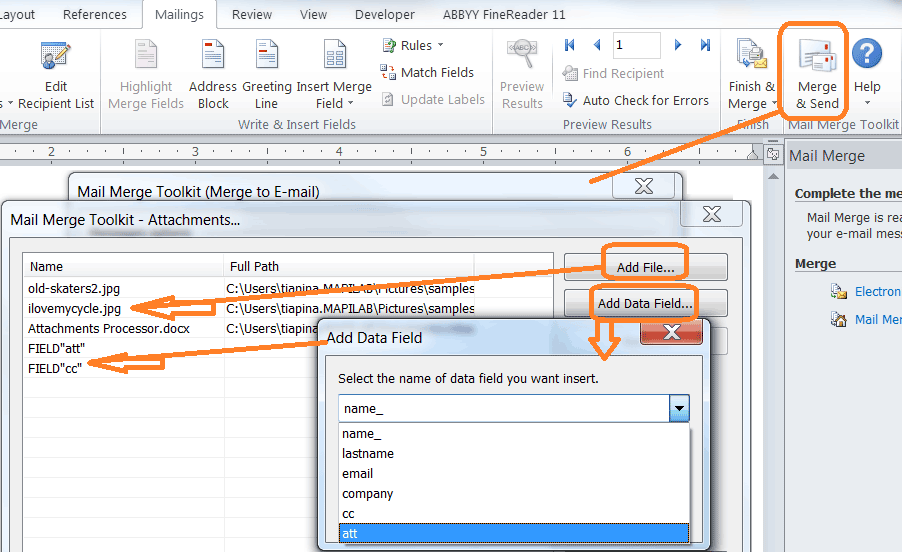 Mail Merge with PDF attachments in Outlook | MAPILab blog