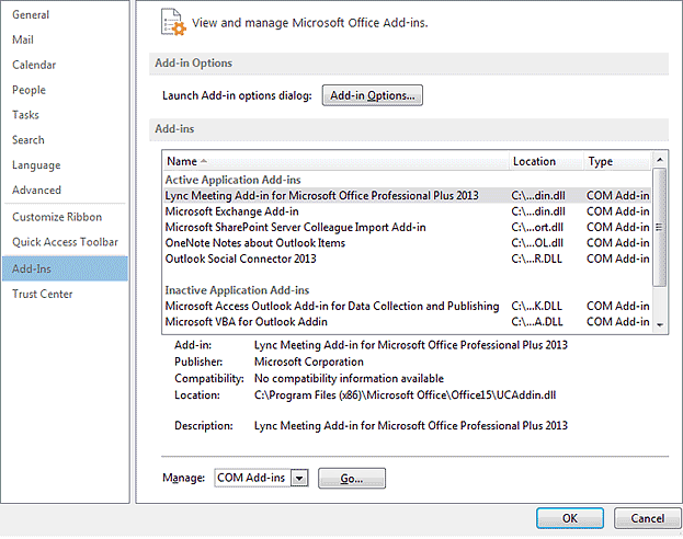 How to install, manage or uninstall Outlook add-ins