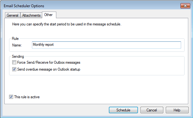 Schedule email in Outlook
