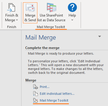 Mail Merge addin in Outlook