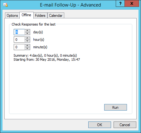 Email Follow Up Advanced Offline