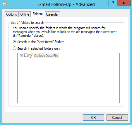 Email Follow Up Advanced Folders