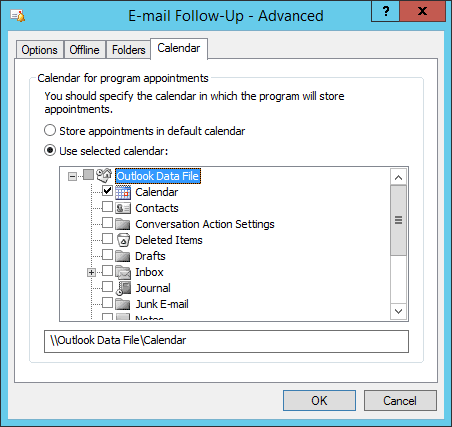 Email Follow Up Advanced Folders