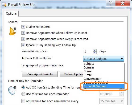 how to use e mail follow up to send reminders on unreplied