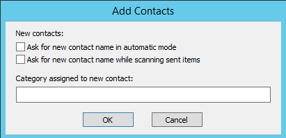 Add Contacts plugin advanced options