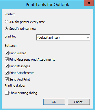 Print tools settings