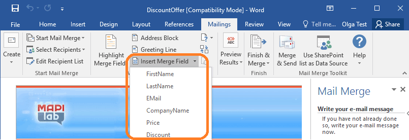 Get fields from SharePoint List