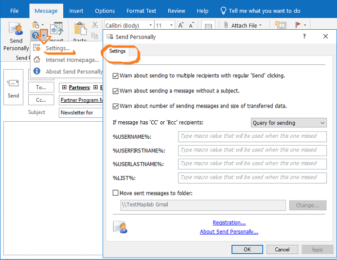 Smart mass-mailing with Send Personally in Microsoft Outlook