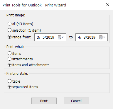 How to print emails and attachments from Outlook: the basic