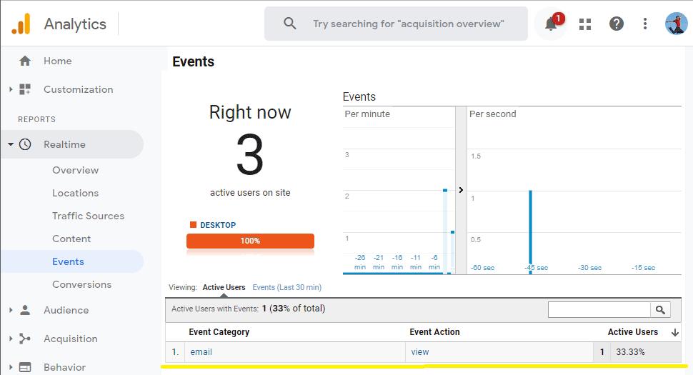 Mail merge in Google Analytics