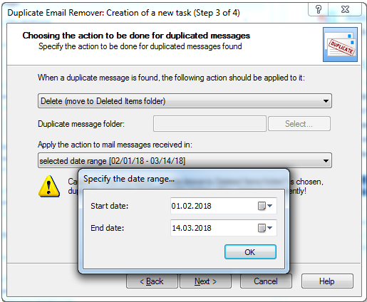 Remove duplicated emails in Outlook