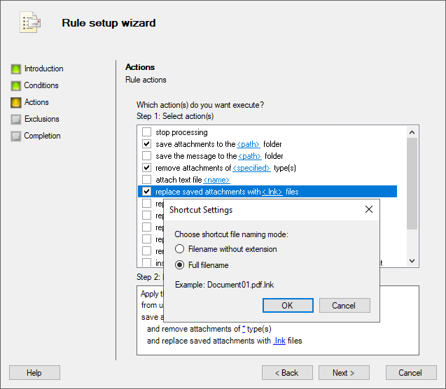 Attachment Save for Exchange: save, block and remove attachments in