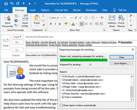 Start using Outlook add-in in one click
