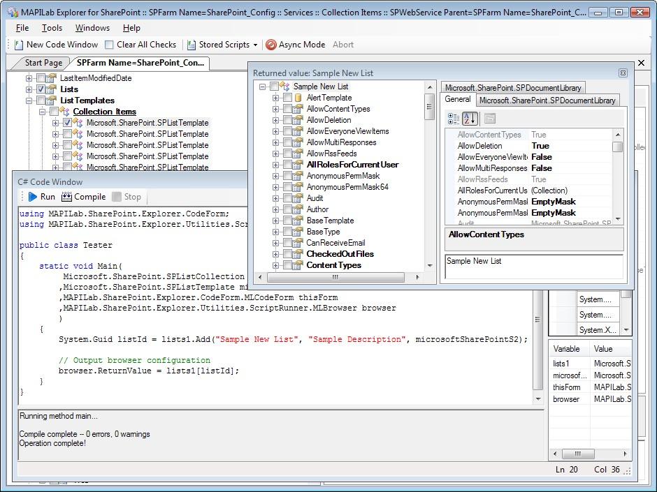 MAPILab Explorer for SharePoint screenshot