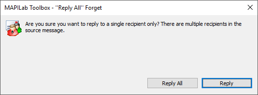 Reply All Forget component in Outlook