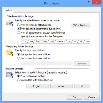 Print emails and attachments in Outlook with Print Tools for Outlook